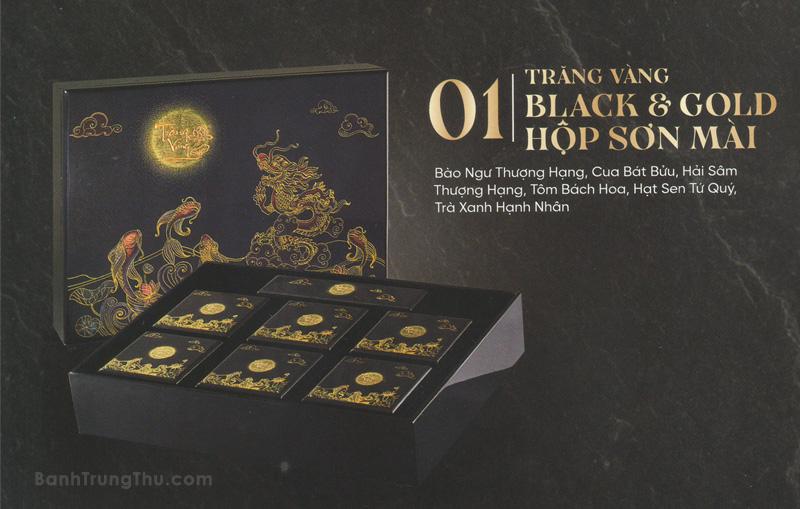 Bánh trung thu Kinh Đô Trăng Vàng Black & Gold - Hộp Sơn Mài